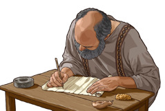 The apostle Paul writes a letter