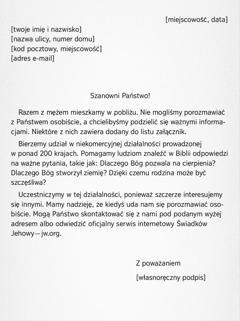 Przykładowy list