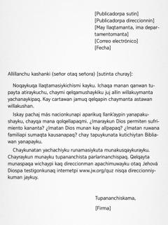 Imaynata cartata qelqanapaq
