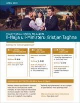 Fuljett għall-Istudju tal-Laqgħa—Il-Ħajja u l-Ministeru Kristjan Tagħna, April 2019