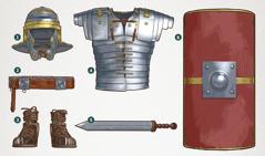 Todas las piezas de la armadura