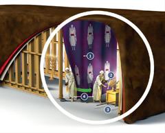 Vista interior del tabernáculo