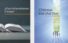 The book 'What Can the Bible Teach Us?' and the brochure 'Listen to God and Live Forever.'