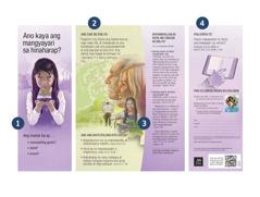 Ang tract na 'Ano Kaya ang Mangyayari sa Hinaharap?' at mga numero na nagpapakita ng mga bahagi ng tract.