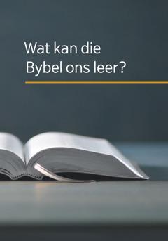Die voorblad van die boek 'Wat kan die Bybel ons leer?'