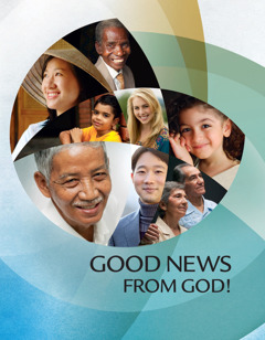 The cover of the brochure 'Good News From God!'