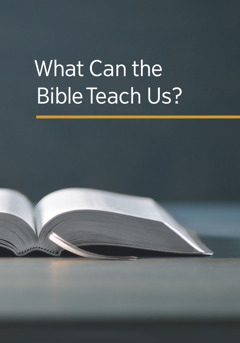 The cover of the book 'What Can the Bible Teach Us?'