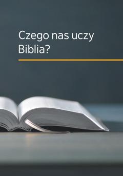 """Okładka książki """"Czego nas uczy Biblia?""""."""