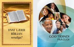 Bókin 'Hvat lærir Bíblian veruliga?' Heftið 'Góð tíðindi frá Gudi'.