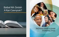 'Baibal Nih Zeidah A Kan Cawnpiak?' timi cauk. 'Pathian Sinin A Rami Thawngṭha!' timi brochure