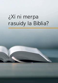 Libro ni laa, ¿Xí ni merpa rasuidy la Biblia?