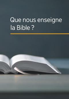 Le livre «Que nous enseigne la Bible?»