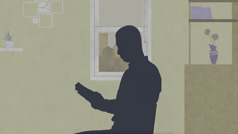 Brat se duhovno pripravlja na nesrečo, tako da bere Sveto pismo.