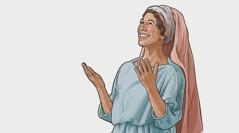 Wata Ba-isra'iliya tana addu'a ga Jehobah tana masa godiya.