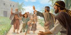 Dîlên Îsraêlî bi şabûn silav dikin neferên mala xwe gava sala Yûbîlê vedigerin mala xwe.