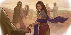 Jinên Mowabî gazî mêrên Îsraêlî dikin.
