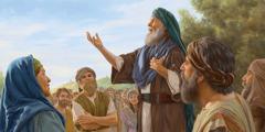 Mose ali kupfundzisa Aizraeli nyimbo ya kusimba Yahova.