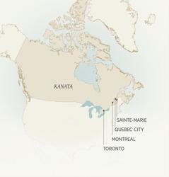 Te mapu i te oire i Kanata te ngai i tavini ei a Léonce Crépeault: Sainte-Marie, Quebec City, Montreal, e Toronto.