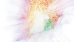 Jehova sjedi na prijestolju smaragdnozelene boje. Iz prijestolja isijavaju jarke zrake svjetlosti.
