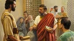 Az első században egy testvér vitatkozik Timóteusszal a gyülekezetben. Néhányan megrökönyödve figyelik őket, míg mások gúnyolják Timóteuszt.