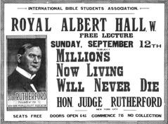 Cartel ra cá chigudii hermanu Rutherford discursu ni lá' «millón binni ni nabani yanna ma' quézática'».