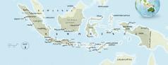 ინდონეზიის რუკა
