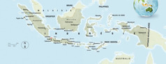 Karte ya Indonésie