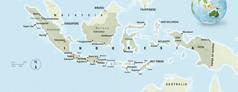 Et kart over Indonesia