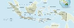 Mapa Indonezji