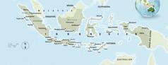 En karta över Indonesien.