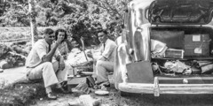 Henry Cockman with Jean and Clem Deschamp in Sumatra (1940)