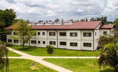 Det nya bostadshuset vid avdelningskontoret på Madagaskar