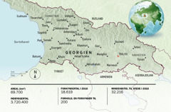 Kort over Georgien