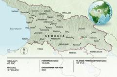 Et kart over Georgia
