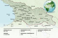 Een kaart van Georgië