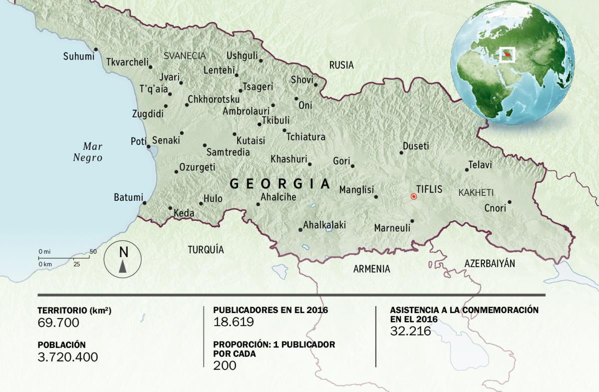 Información General De Georgia Religión Territorio Y Población - Mapa de georgia