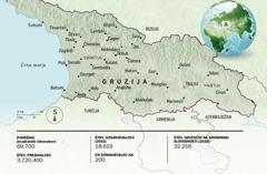 Zemljevid Gruzije