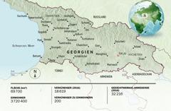 Eine Karte von Georgien