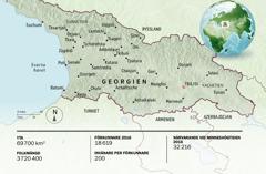 En karta över Georgien.