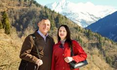بيبو ديفيدزه وزوجها