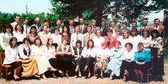 Students at a pioneer school near Zugdidi
