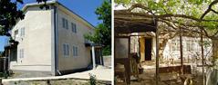 قاعة ملكوت قديمة ومتهدمة وقاعة الملكوت الجديدة التي حلت محلها