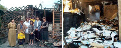 The Shamoyan family home and a literature depot in Georgia, both destroyed by arsonists