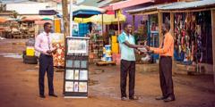 Анкасиядә (Гана) стенд белән вәгазьләү