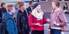 Ronja witnesses to her classmates in Norway