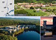 美國伯特利設施的位置圖;華基爾的設施全景;沃威克設施全景和中庭旁的瞭望塔