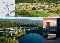 Локације на којима се налазе бетелски комплекси у Сједињеним Државама; објекти у Волкилу; видиковац ноћу и нови објекти у Ворвику