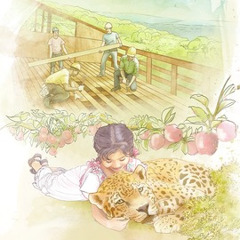 1. Building houses in Paradise; 2. A little girl playing with a leopard