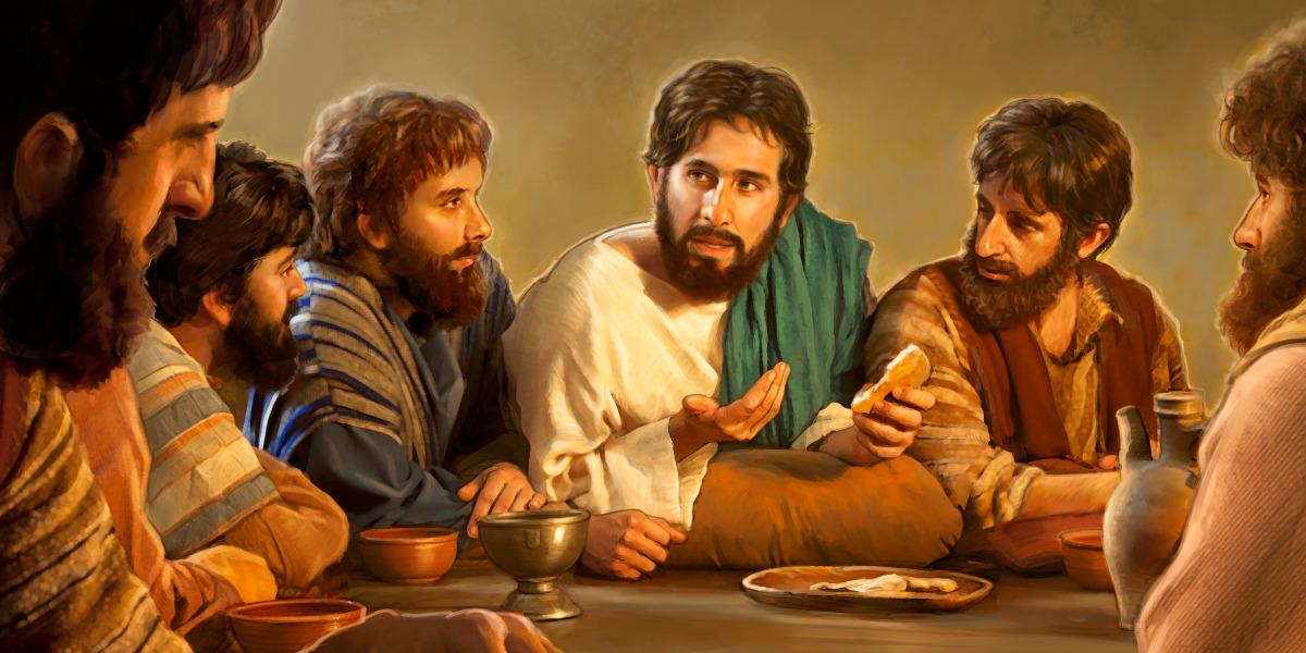 Jesús celebra la Conmemoración de la muerte de Cristo