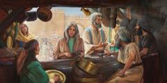 Older Christians encouraging others to serve God